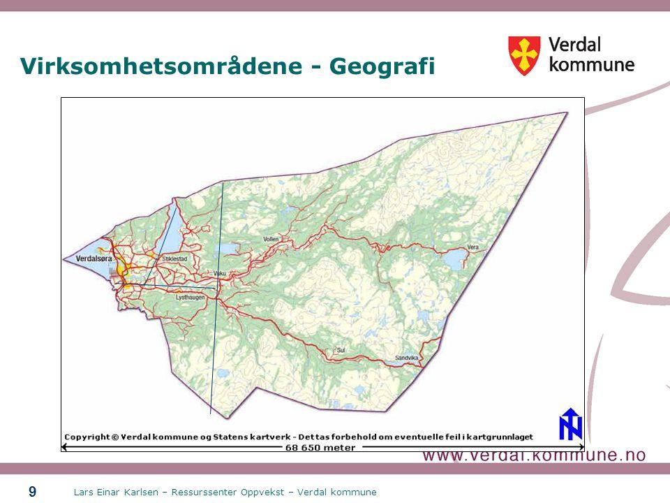 Virksomhetsområdene - Geografi