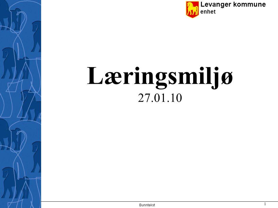Læringsmiljø 27.01.10 Bunntekst