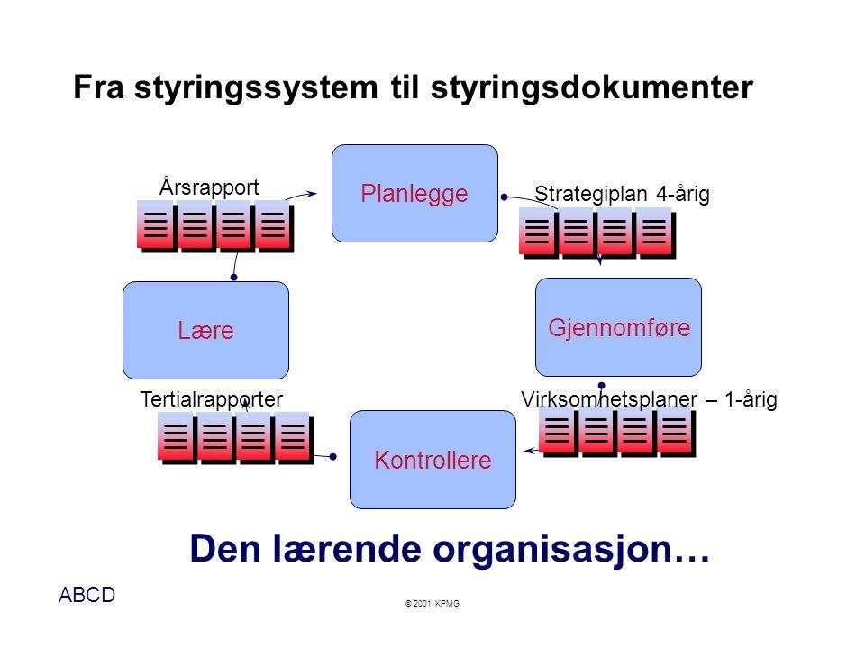 Fra styringssystem til styringsdokumenter