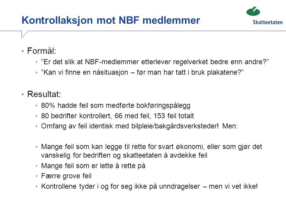 Kontrollaksjon mot NBF medlemmer