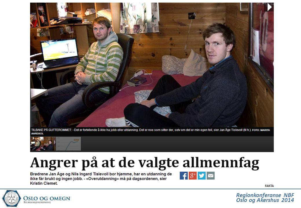 Dette er fra Bergens Tidene som melder om 2 brødre som har brukt opp skoleretten sin på allmennfag, og bor hjemme på gutterommet uten jobb.