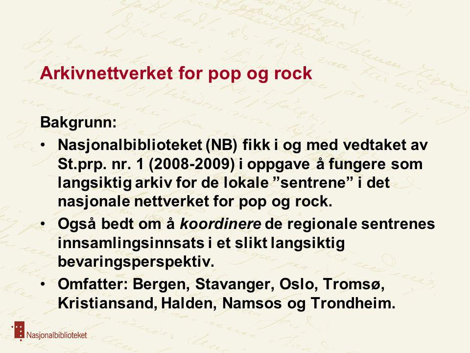 Arkivnettverket for pop og rock