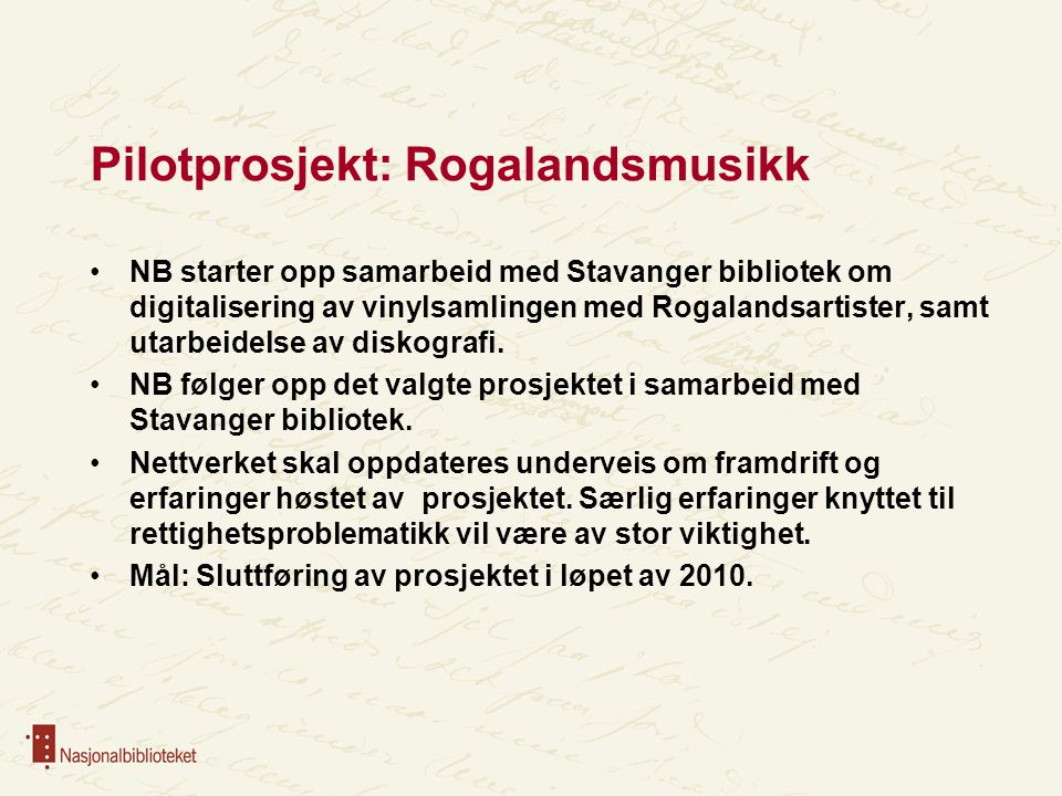 Pilotprosjekt: Rogalandsmusikk