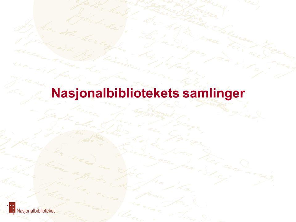 Nasjonalbibliotekets samlinger