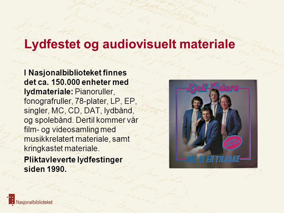 Lydfestet og audiovisuelt materiale
