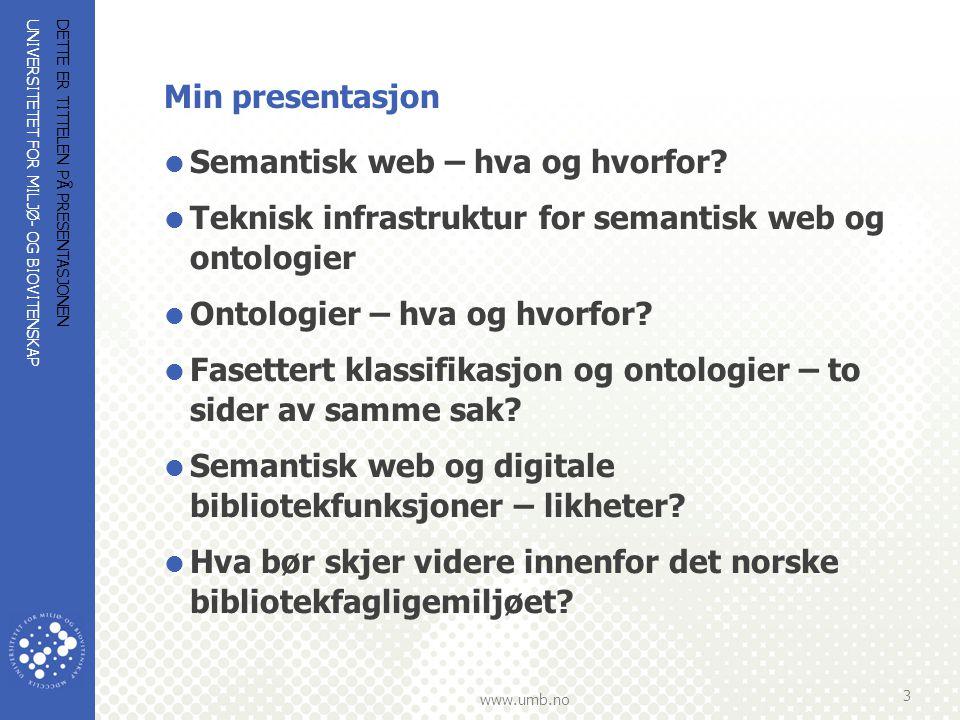 Semantisk web – hva og hvorfor