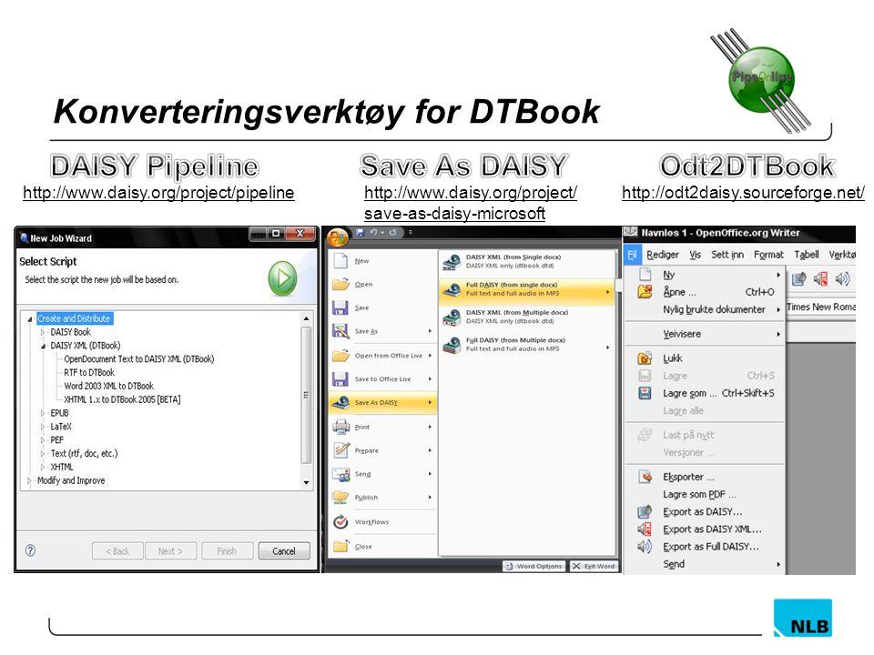 Konverteringsverktøy for DTBook