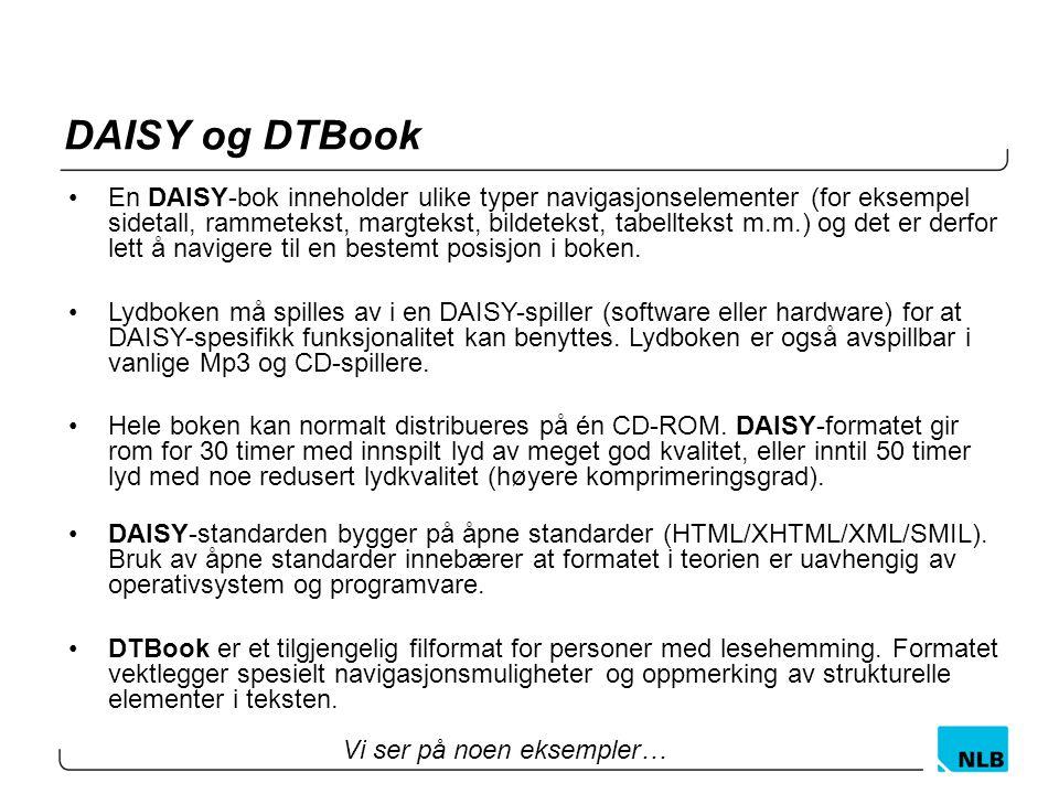 DAISY og DTBook