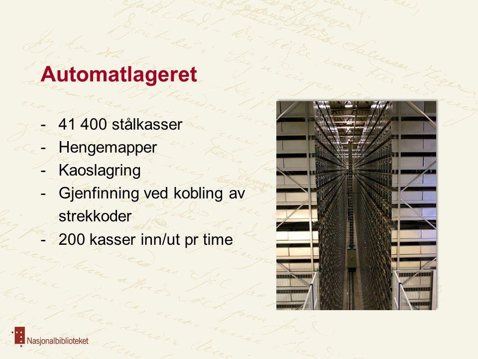 Automatlageret 41 400 stålkasser Hengemapper Kaoslagring