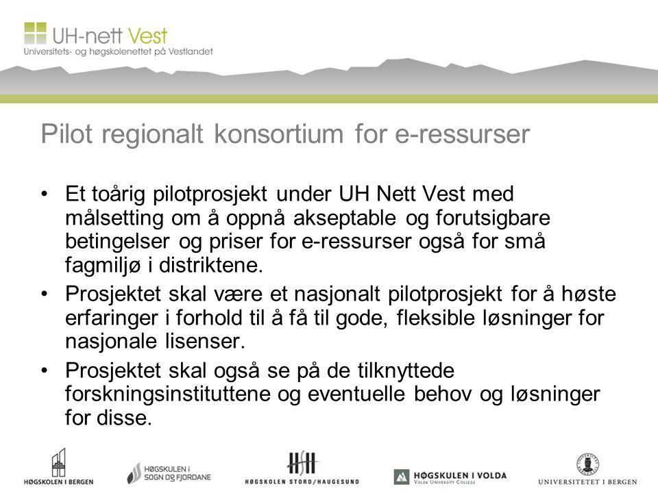 Pilot regionalt konsortium for e-ressurser