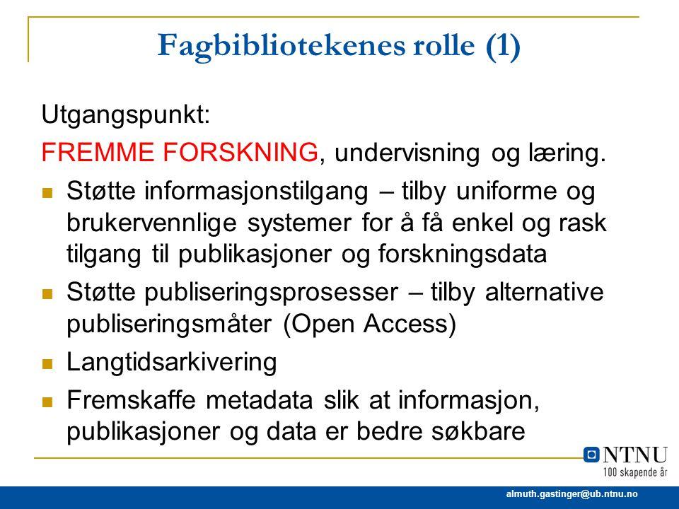 Fagbibliotekenes rolle (1)