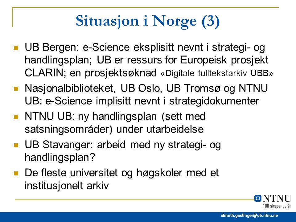 Situasjon i Norge (3)