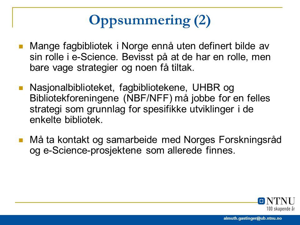 Oppsummering (2)