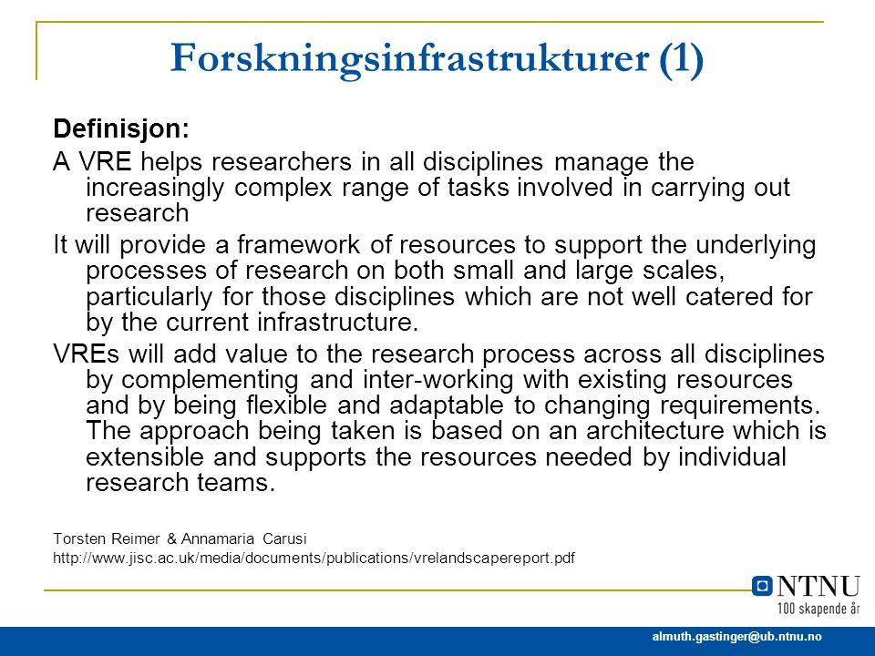 Forskningsinfrastrukturer (1)