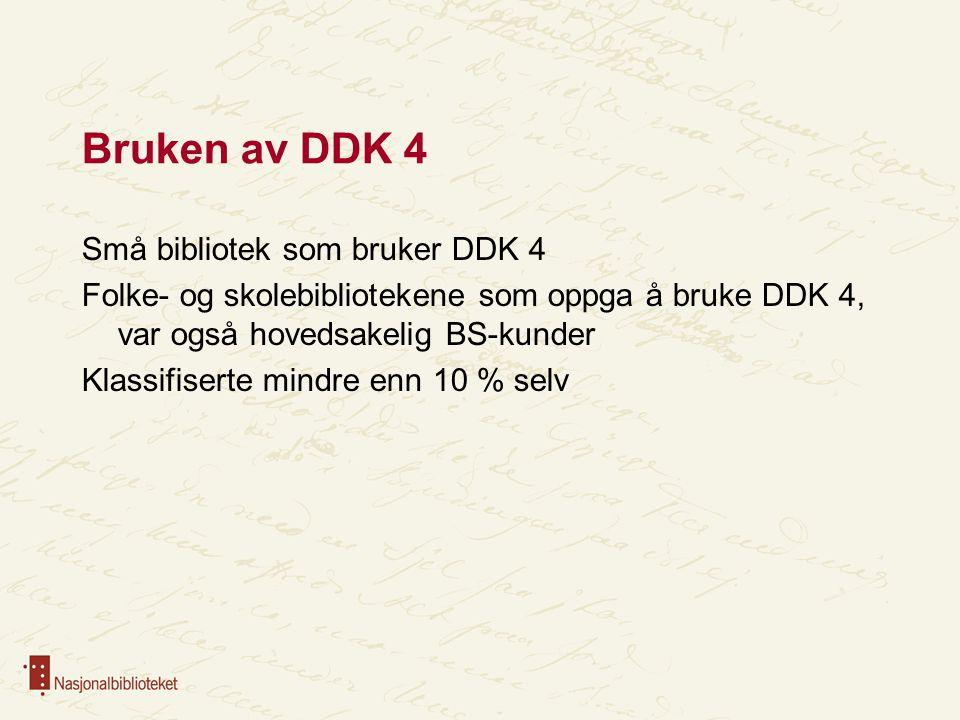 Bruken av DDK 4