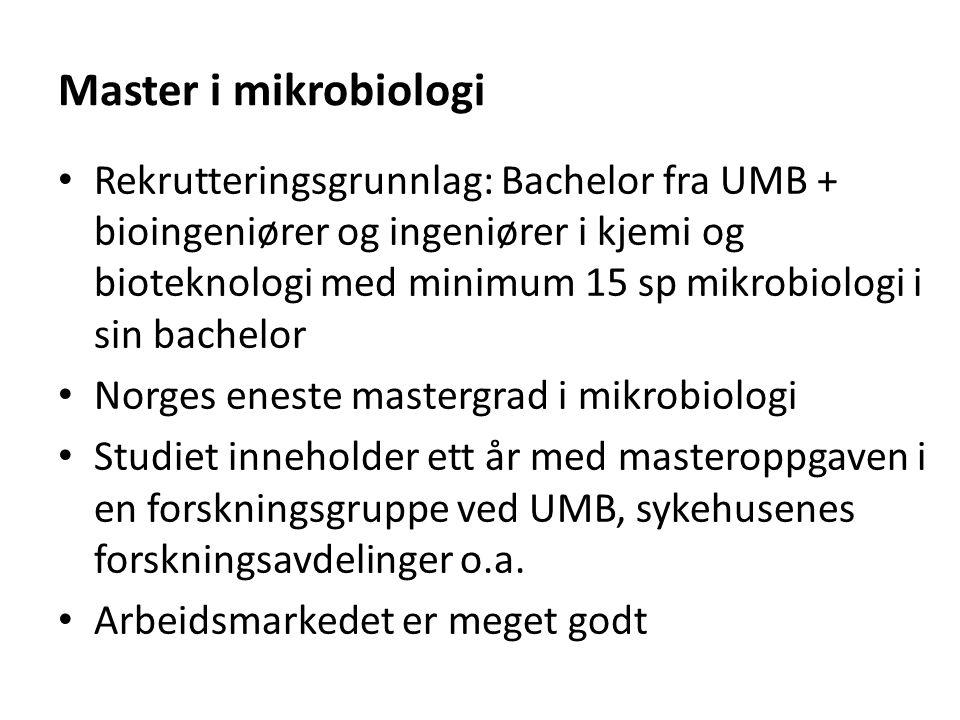 Master i mikrobiologi