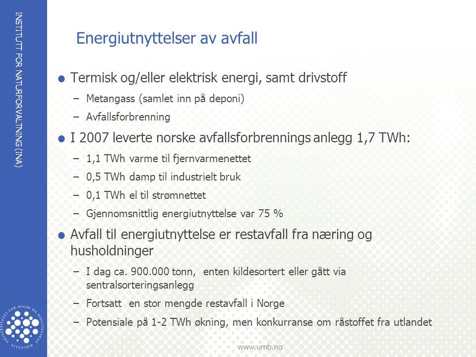Energiutnyttelser av avfall