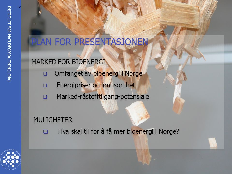 PLAN FOR PRESENTASJONEN