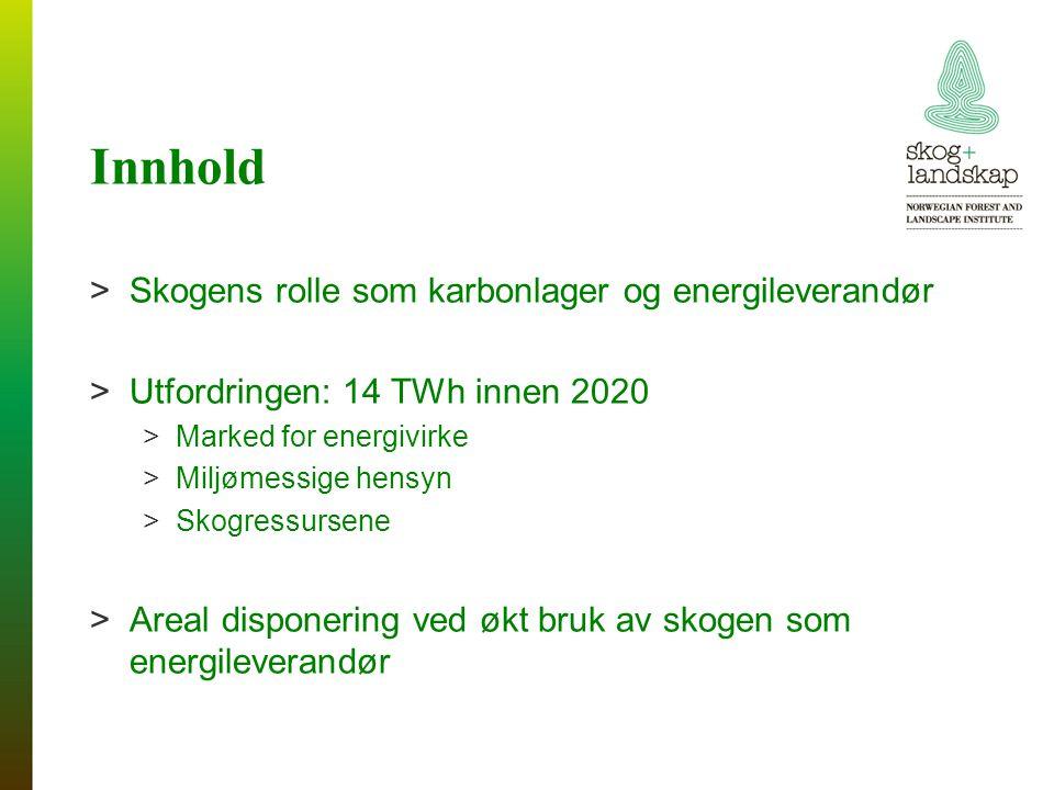 Innhold Skogens rolle som karbonlager og energileverandør