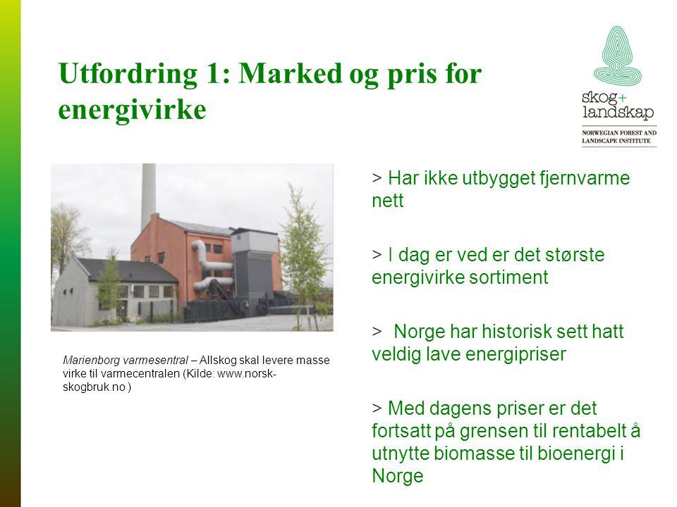 Utfordring 1: Marked og pris for energivirke