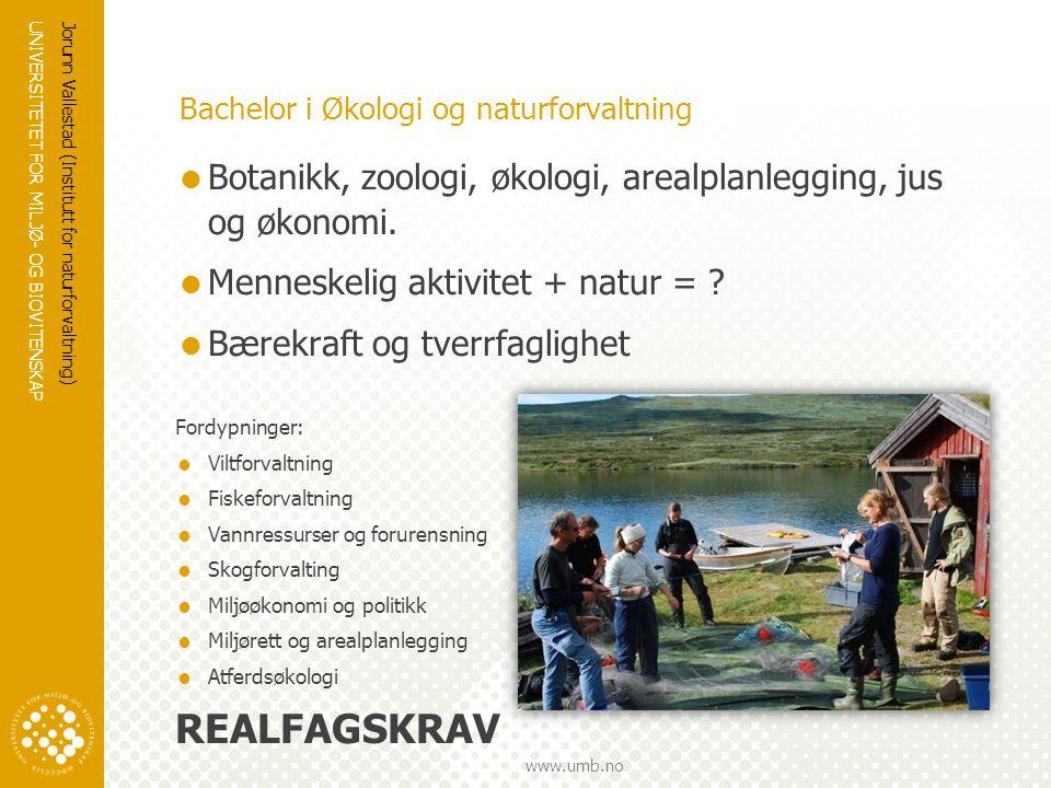 Bachelor i Økologi og naturforvaltning