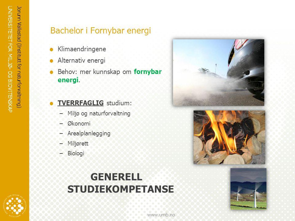 Bachelor i Fornybar energi