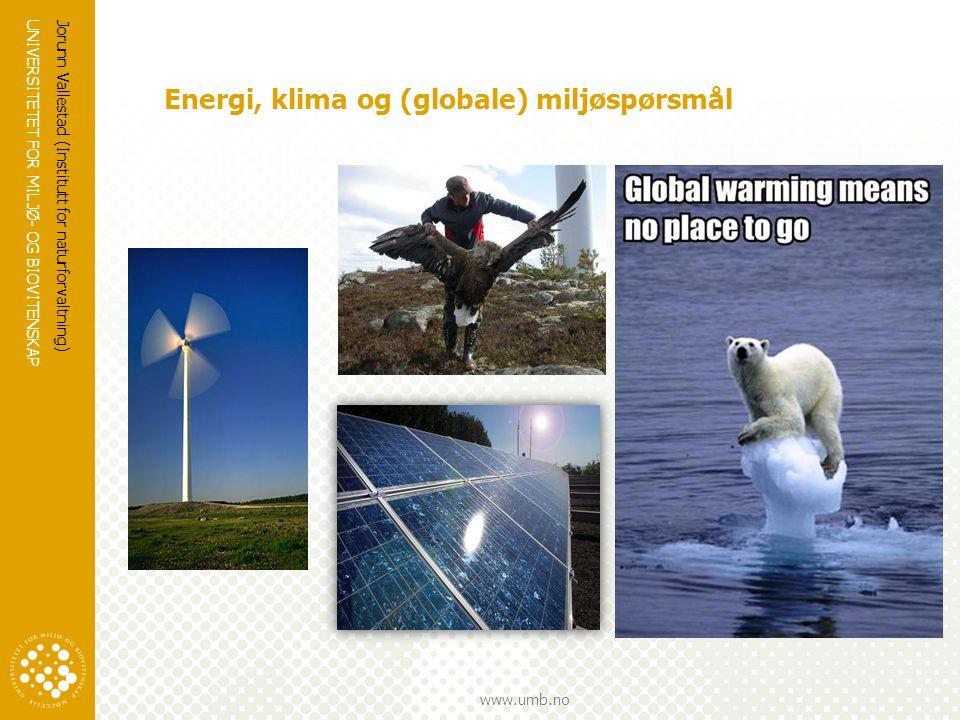 Energi, klima og (globale) miljøspørsmål