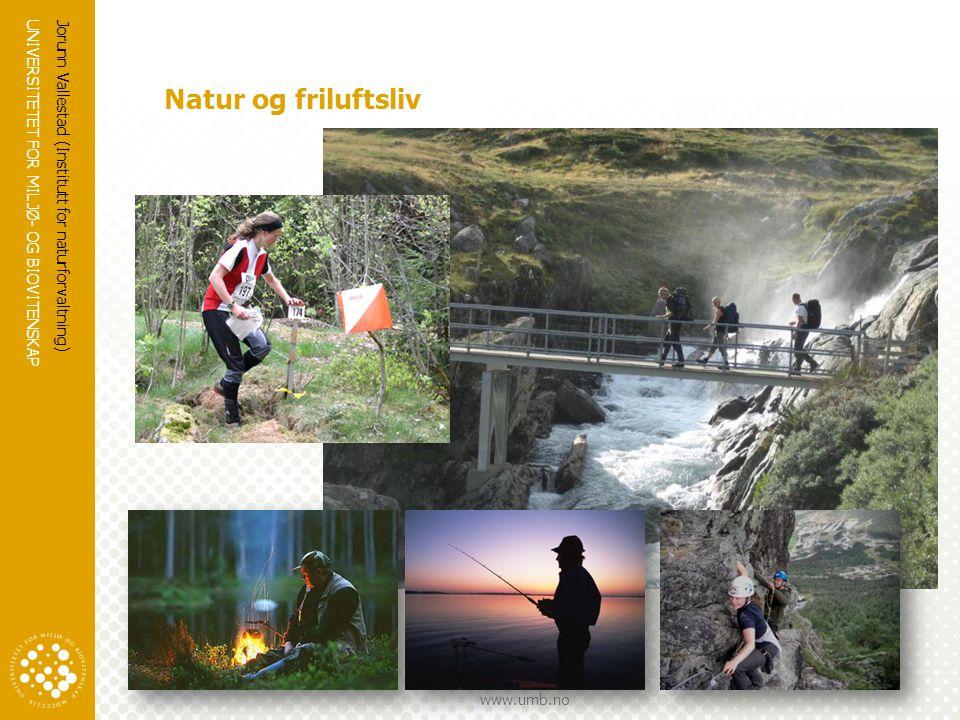 Natur og friluftsliv Jorunn Vallestad (Institutt for naturforvaltning)