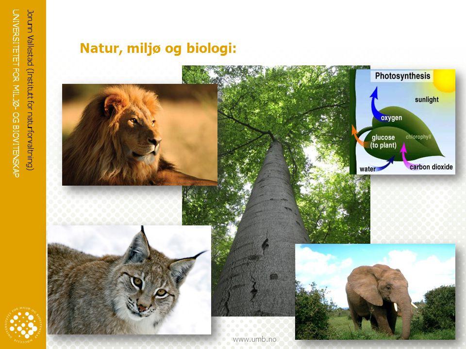 Natur, miljø og biologi: