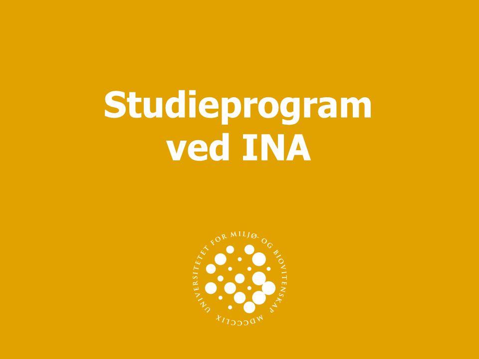 Studieprogram ved INA