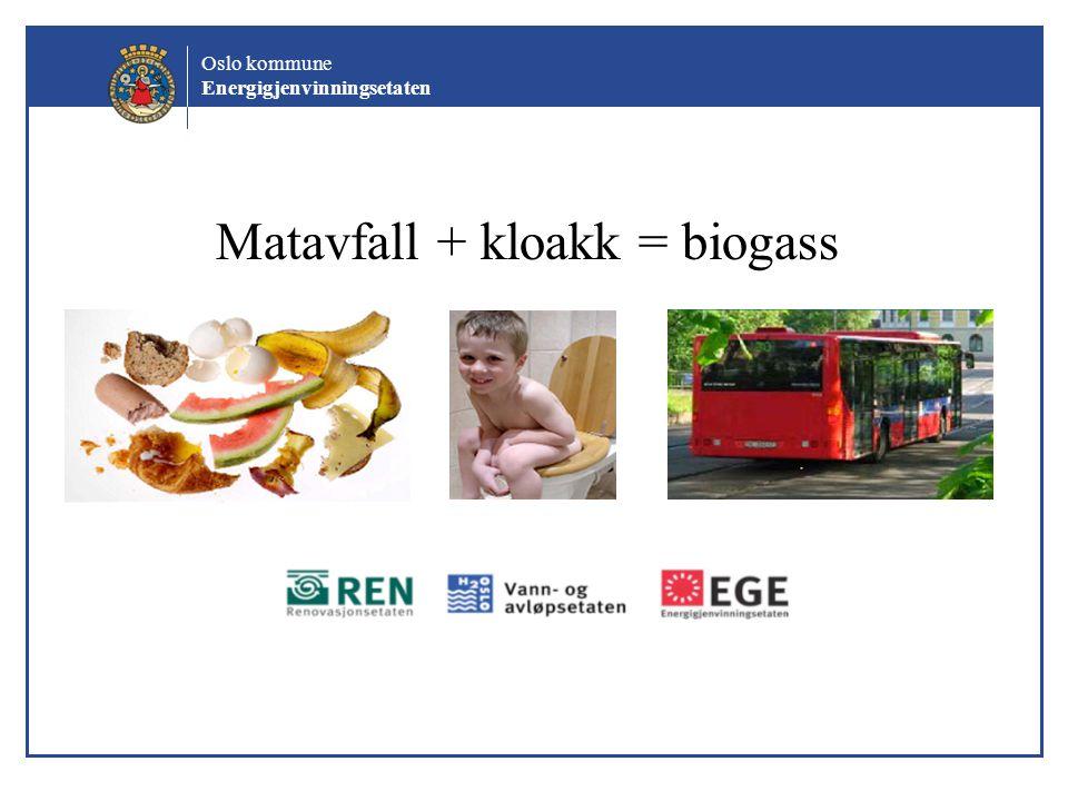 Matavfall + kloakk = biogass
