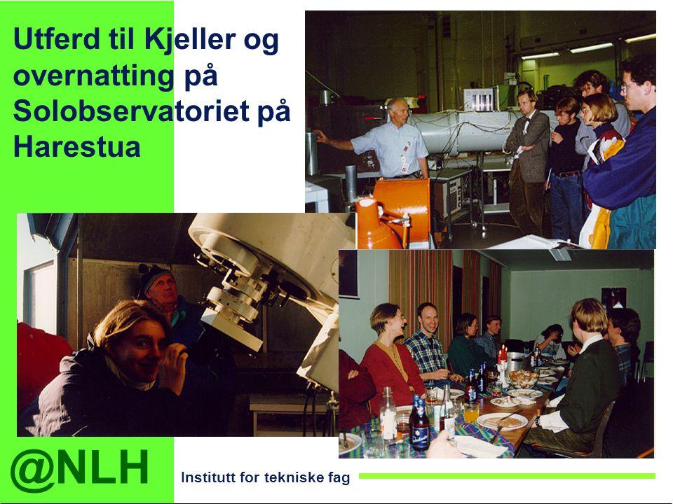Utferd til Kjeller og overnatting på Solobservatoriet på Harestua