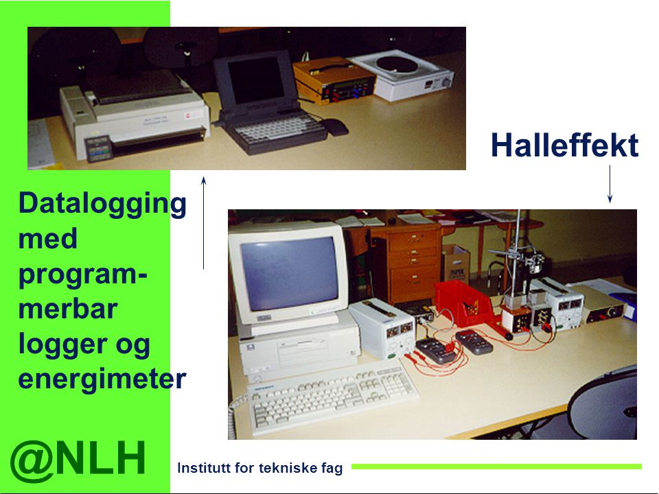 Halleffekt Datalogging med program- merbar logger og energimeter