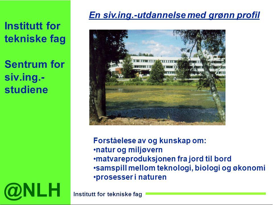 Institutt for tekniske fag Sentrum for siv.ing.-studiene