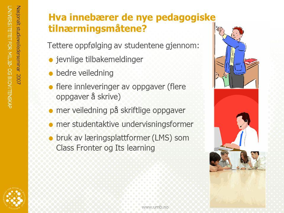 Hva innebærer de nye pedagogiske tilnærmingsmåtene