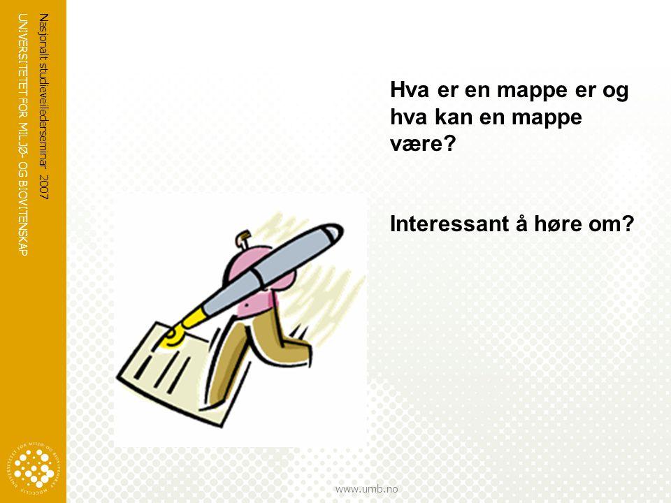 Hva er en mappe er og hva kan en mappe være
