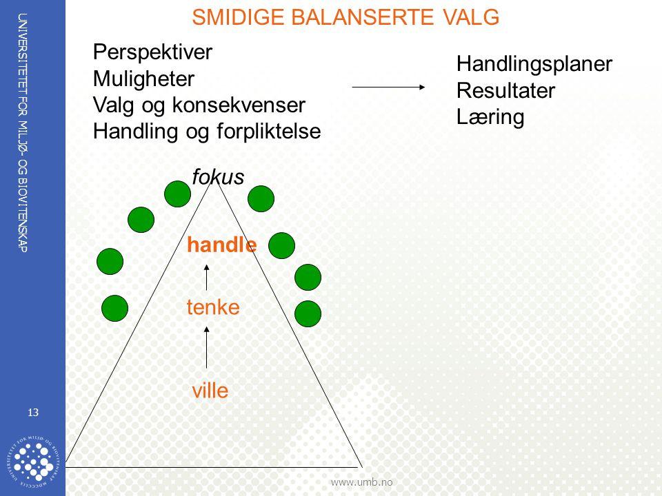 SMIDIGE BALANSERTE VALG