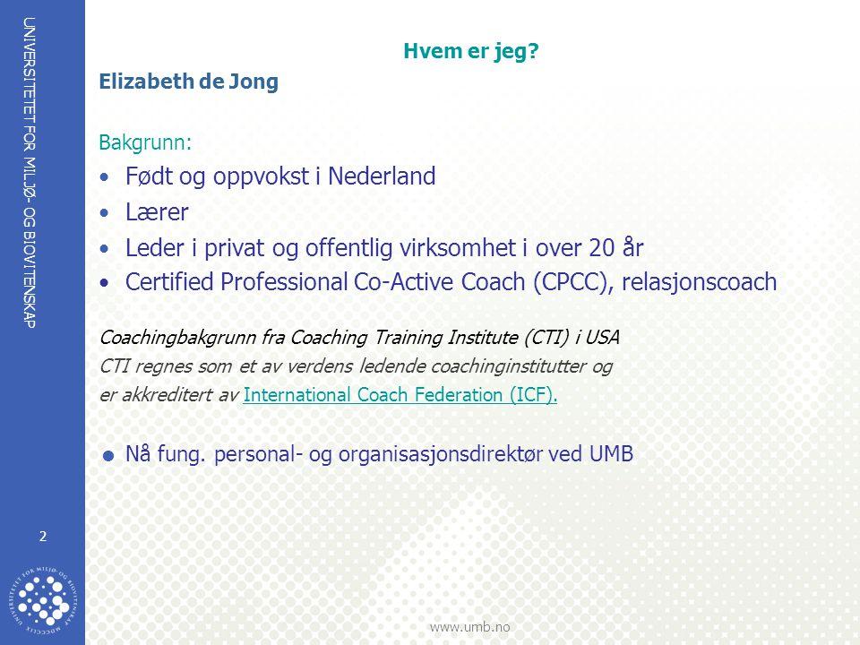 Født og oppvokst i Nederland Lærer