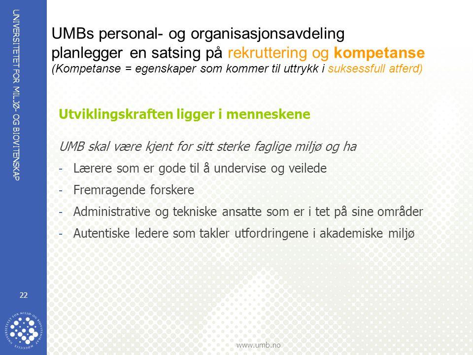 UMBs personal- og organisasjonsavdeling