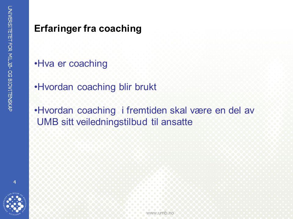 Erfaringer fra coaching