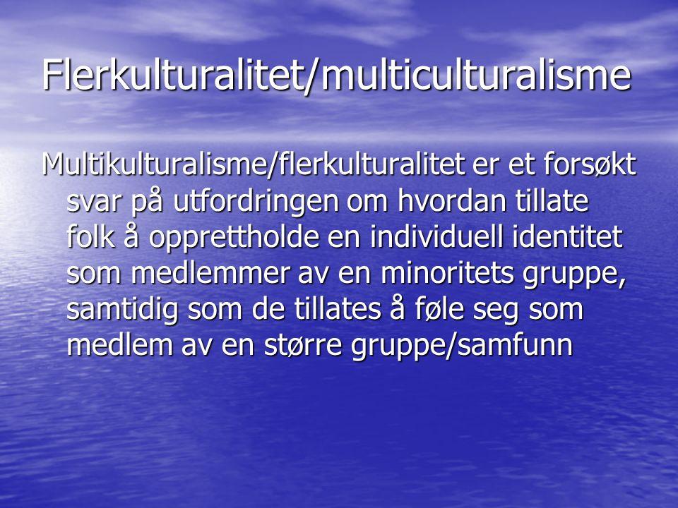 Flerkulturalitet/multiculturalisme