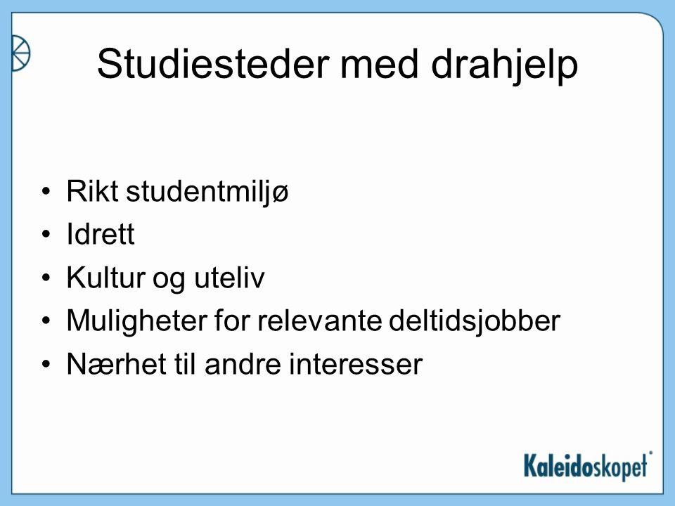 Studiesteder med drahjelp