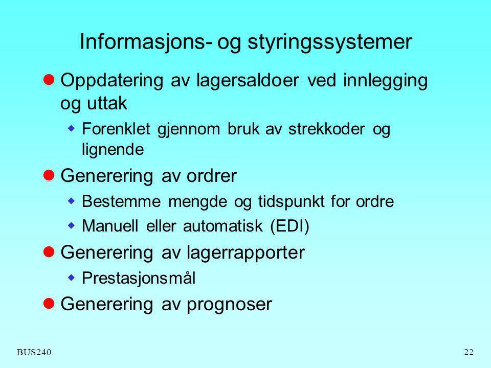 Informasjons- og styringssystemer