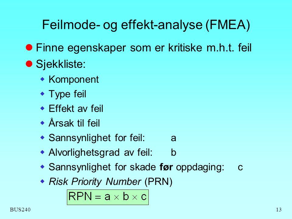 Feilmode- og effekt-analyse (FMEA)