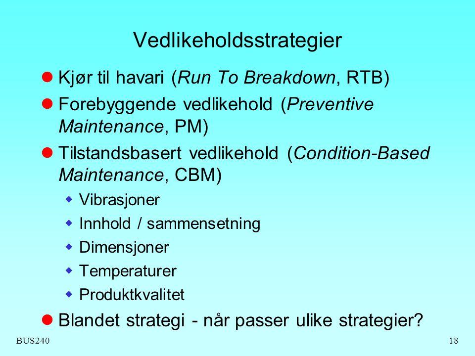 Vedlikeholdsstrategier