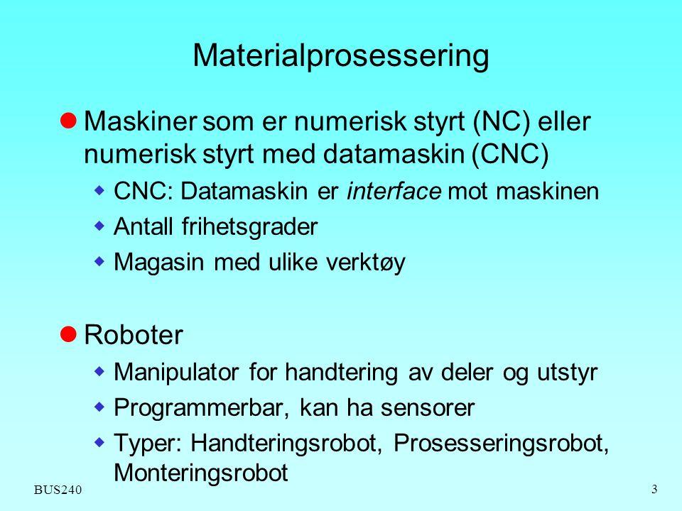 Materialprosessering