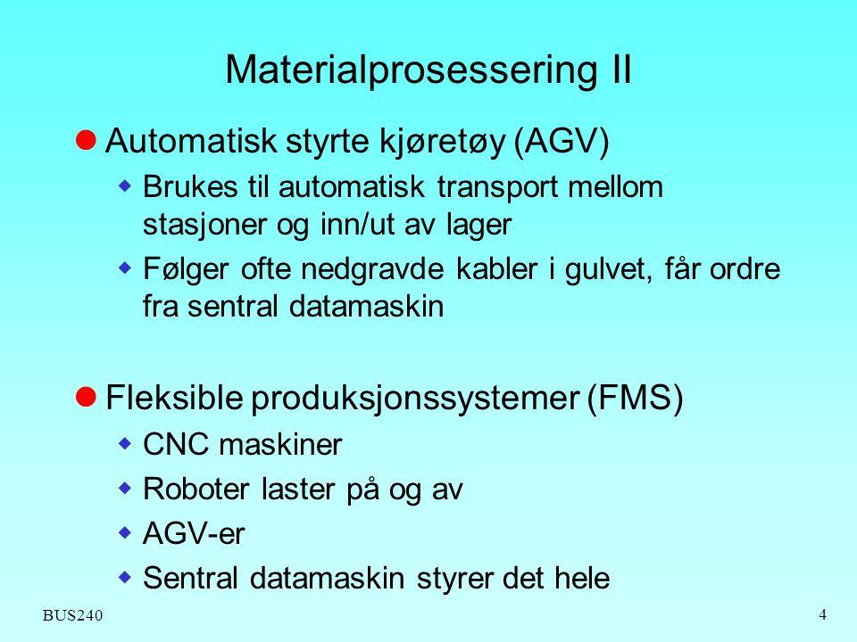 Materialprosessering II