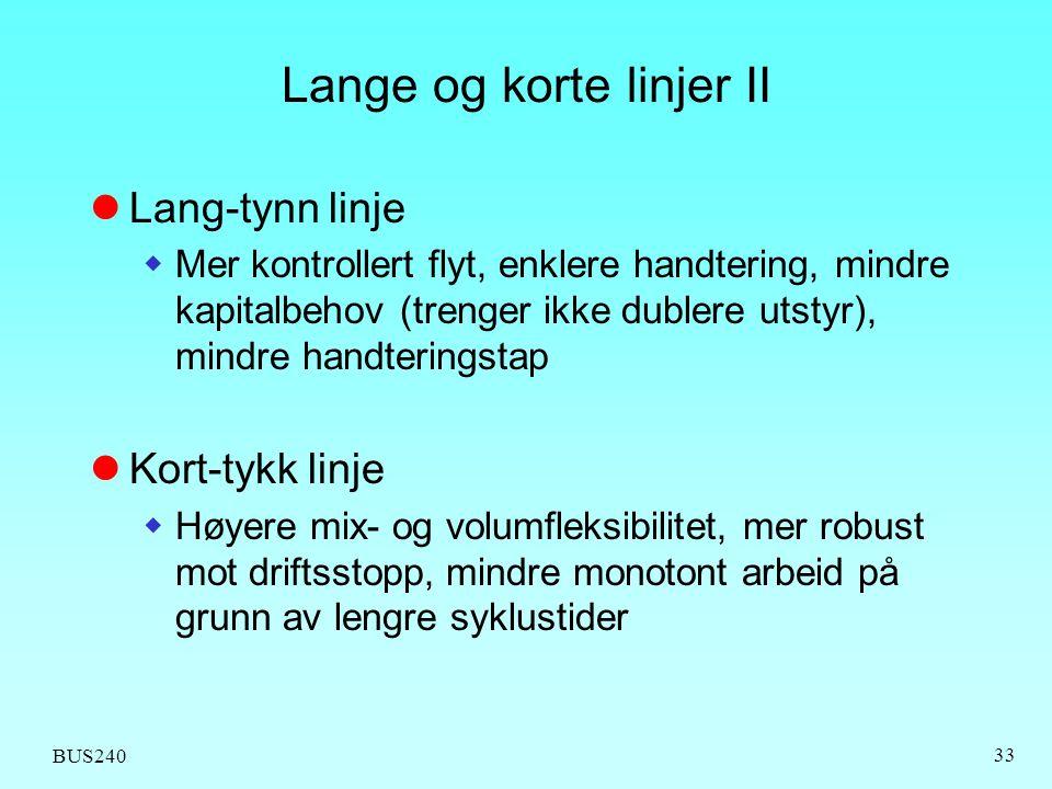 Lange og korte linjer II