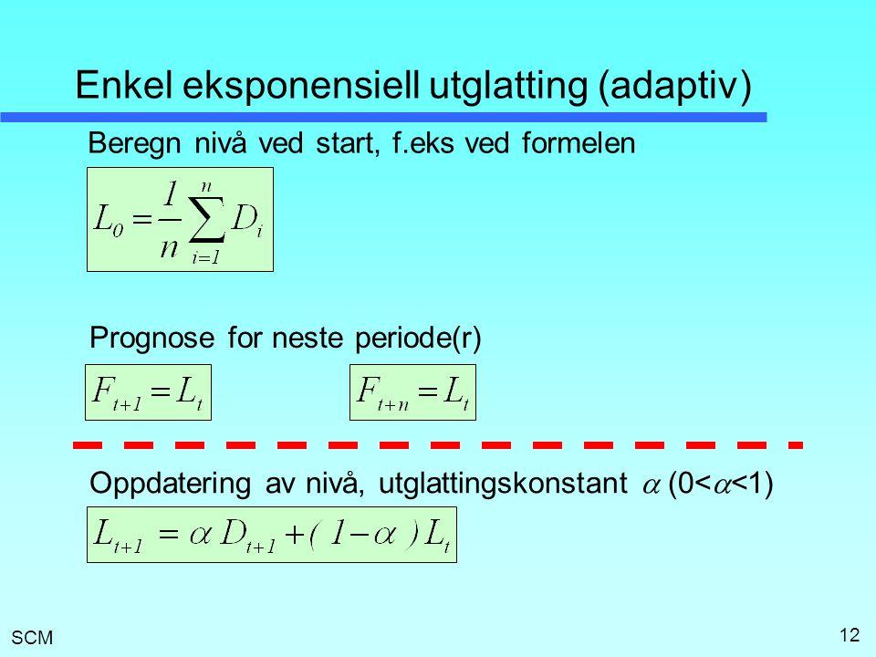 Enkel eksponensiell utglatting (adaptiv)