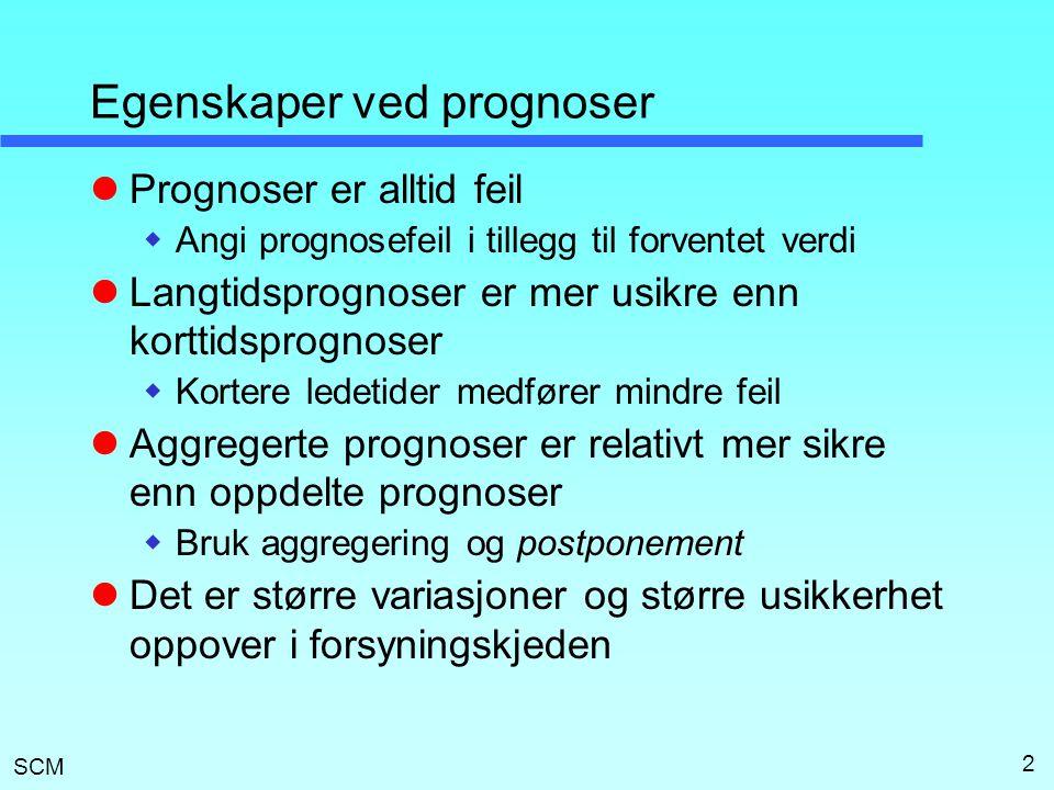 Egenskaper ved prognoser